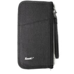 reisdocumenten tas voorkant zwart