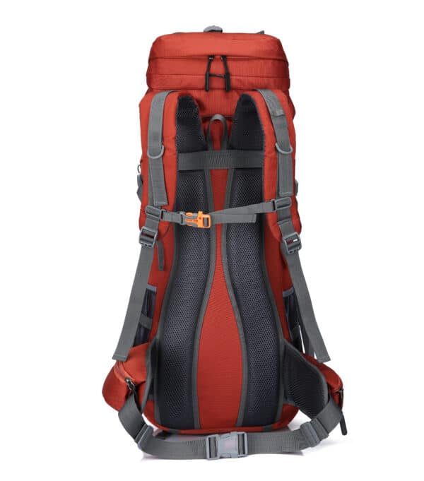 Rode backpack achterkant
