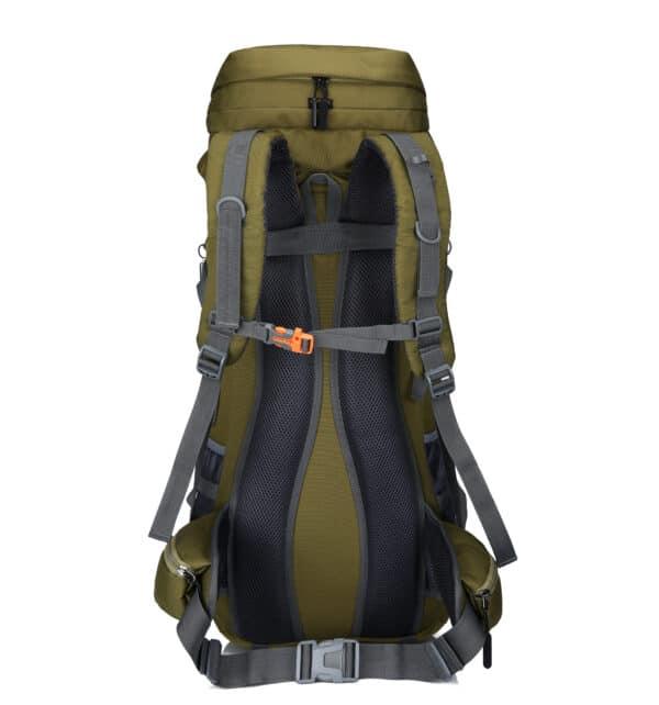 Groene backpack achterkant