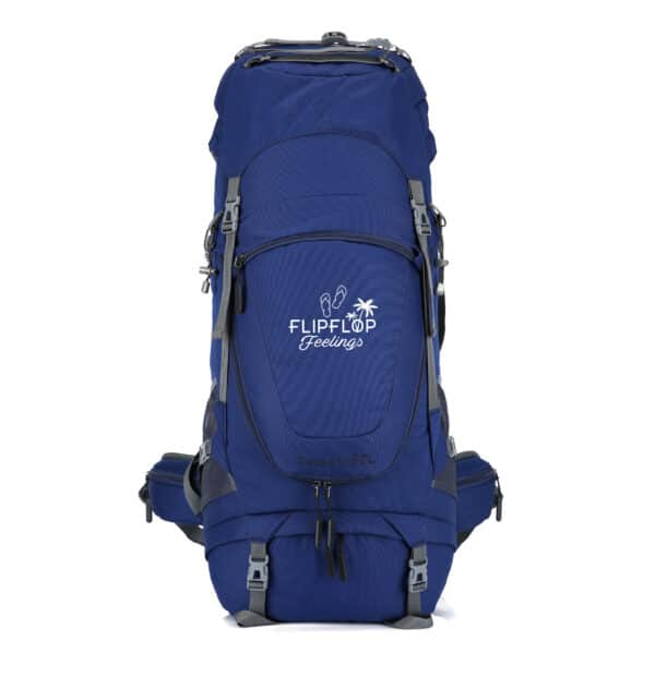 Blauwe backpack