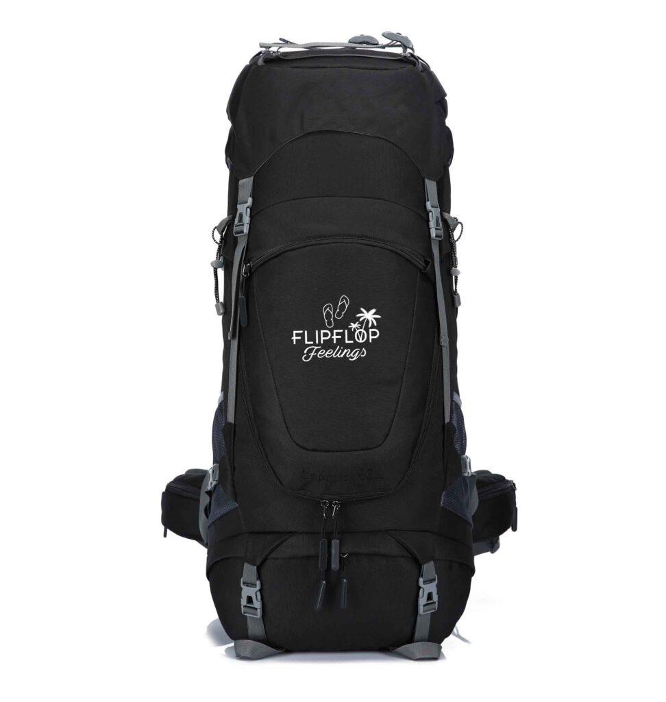 Zwarte backpack 70L