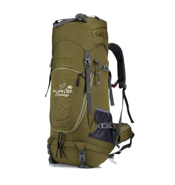 Groene backpack reizen 70L