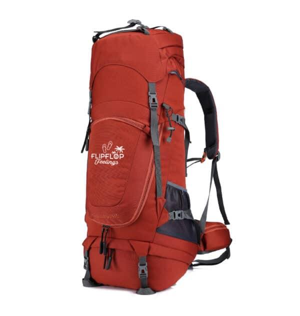 Rode backpack reizen 70L