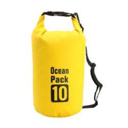 Drybag 10L geel