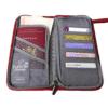 reisdocumenten tas binnenkant rood